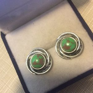 Just in Green turquoise Studs earrings